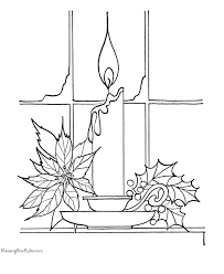 printable christmas coloring pages candles