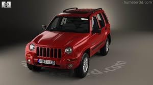 red jeep cherokee 360 view of jeep cherokee kj 2002 3d model hum3d store