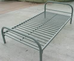 Folding Single Bed Iron Single Bed Metal Folding Steel Within Foldable Frame