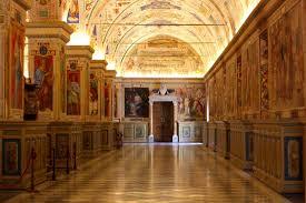 visiting the sistine chapel vatican museum hallway