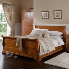 louis philippe wooden sleigh bed frame wooden beds cuckooland