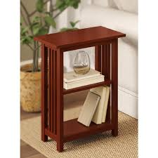 Cherry End Tables Alaterre Furniture Cherry 2 Shelf End Table Amia0260 The Home Depot