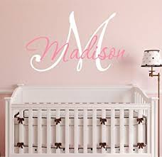 Personalized Wall Decals For Nursery Nursery Custom Name And Initial Wall Decal Sticker 28