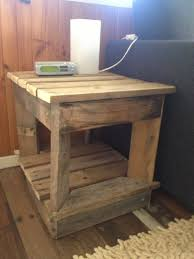 how to make a bed table how to make a bedside table out of a pallet modern decoration design