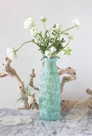 Mint Green Vase Lettered Vase Centerpiece Diy Julep