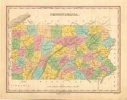 Pa Road Map Antique Maps Of Pennsylvania