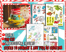 Edible Cake Decorating Paper Dr Seuss Edible Cake Decorations Sugar By Pictures4cakes On Etsy
