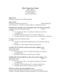 resume templates for students resume template resume sle sle resume