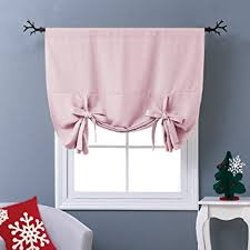 Tie Up Curtain Shade Thermal Insulated Blackout Curtain Tie Up Shade For