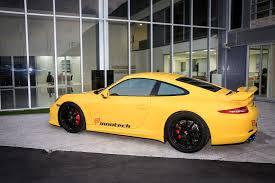 porsche signal yellow innotech performance exhaust porsche 991 carrera s 4s gts