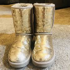 womens boots las vegas ugg 3161 sparkle gold sequin womens boots size 7