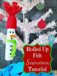 in july easy felt snowman ornament the tiptoe