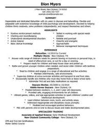 Resume For Babysitting Examples by Babysitting Reference Letter Sample Http Topresume Info