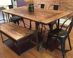 Hammered Copper Dining Table Industrial Dining Table Etsy