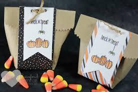 handmade halloween treat bags simple diy halloween treat bag luvin stampin