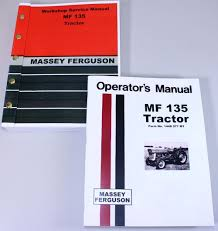 massey ferguson mf 135 tractor service owners operators manual