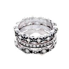 silver rings set images Cate chloe jewelry edie quot queen quot silver ring set jpg