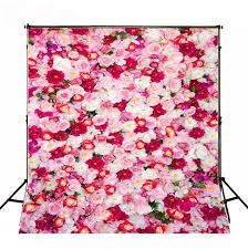 custom photo backdrops aliexpress buy 150 200cm pink white flowers baby