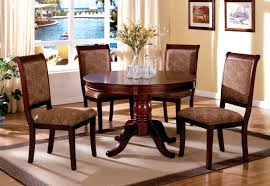 dining room furniture server table set round table server 5 pcs cherry wood finish dining