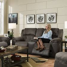 Contemporary Reclining Sofa With Topstitch by Leather Sofas