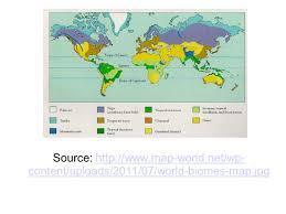 Biomes Map Tundra Biome Coniferous Biome Broadleaf Biome Temperate Grassland