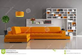 Orange Sofa Living Room orange and brown living room royalty free stock photography