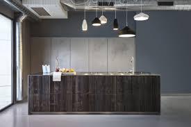 contemporary kitchen wooden stainless steel island