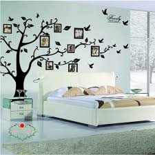 charming art colorful tree decals with hanging owl diy wall decor large family tree wall decal peel stick vinyl sheet easy install apply history decor mural for home bedroom stencil decoration
