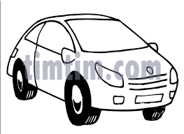 free drawing of a car bw from the category cars trucks buses