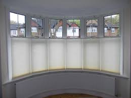 Blinds For Bow Windows Decorating Top Down Bottom Up Luxaflex Duette Blinds At A Bow Window 1 Jpg