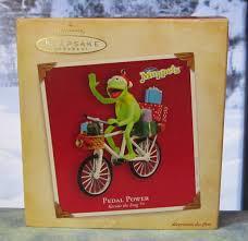 hallmark keepsake christmas ornament 2004 pedal power kermit the