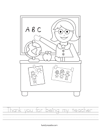 thank you for being my teacher worksheet twisty noodle