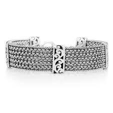 silver weave bracelet images Lois hill hand crafted sterling silver women 39 s bracelet thai jpg
