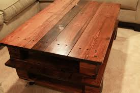 affordable rustic wood pallet coffee table plans with mortise