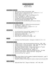 athletic resume resume writing career services student athlete resume