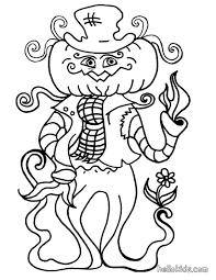 Halloween Pumpkins Coloring Pages Silly Strawman Coloring Pages Hellokids Com