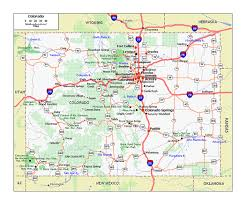 State Of Arkansas Map by Large Roads And Highways Map Of Colorado State Colorado State
