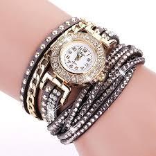 bracelet watches womens images Duoya brand fashion round dial quartz watch women flower jpg