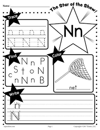 free letter n worksheet tracing coloring writing u0026 more
