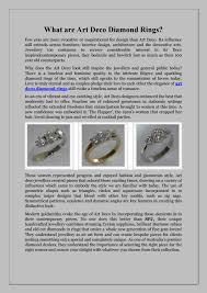 what are art deco diamond rings by simonprestige issuu