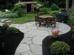 exterior artistic white stone mosaic tile flooring path patio