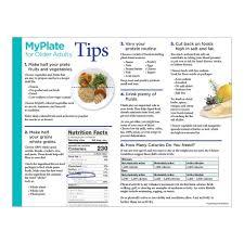 myplate for older adults handouts elderly nutrition handouts