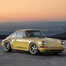 yellow porsche 911 car a mellow yellow porsche 911 restored by singer airows