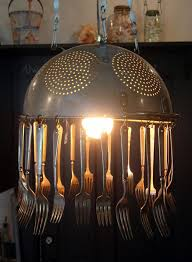 light fixtures how to transform simple kitchen utensils into light fixtures