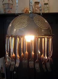 light fixtures how to transform simple kitchen utensils into light fixtures