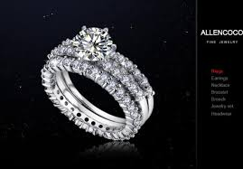 luxury engagement rings images 2018 luxury wedding ring three layer pattern diamond rings zircon jpg
