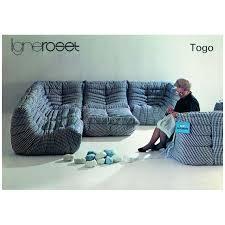 canaper design canapé togo design vintage cote argus price for design