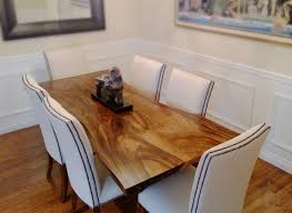 marvelous white and natural wood dining table for ingenious