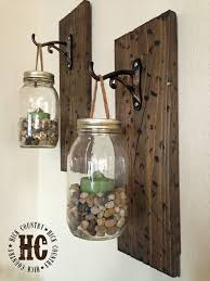 Diy Lantern Lights Rustic Diy Mason Jar Wall Lanterns