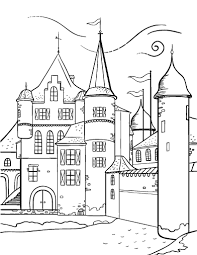 Free Castle Coloring Page Coloring Pages Castles